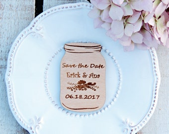 Personalised Wood Save The Date, Wooden Save The Date Magnet, Rustic Save The Date Magnet, Wedding Magnet, Wedding Save the Date Magnet