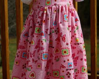 Toddler Easter Dress - 2 Piece Dress - Girl Jumper - White PettiDress - Baby Ruffle Dress - Pink Dress - Girls Sundress - Girls Party Dress