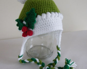 Christmas Elf crochet hat - ready to dispatch