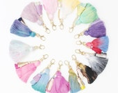 Dyed tassel key chains / key fobs / zipper charms - Choose your color - Ready to Ship