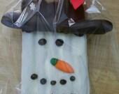 Chocolate Pretzel Rods Snowman - Chocolate Covered Pretzel Sticks -  - Chocolate Favors