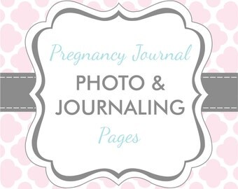 Set of 20 Extra Photo & Journaling Pages for Charmbooks Pregnancy Journals
