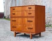 Vintage Danish Modern Teak Dresser/ Nightstand