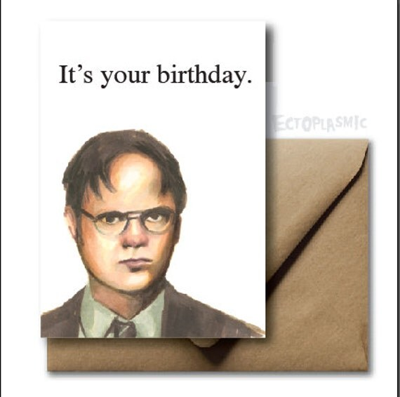 Greeting Card Birthday Card The Office Dwight By