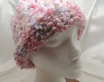 Cozy Pink Loom Knit Hat