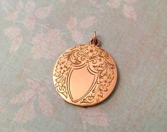 Vintage Locket, Etched Floral Locket, No Monograms, Wedding Jewelry, Gift for Her