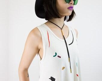 Mod Bolo, suede necklace