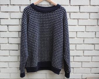 Vintage LL BEAN Norwegian Wool sweater longsleeve warm winter clothing