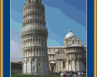 Leaning Tower Of Pisa Cross Stitch Pattern