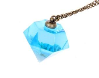 Magie blue ocean Diamond seashell Necklace