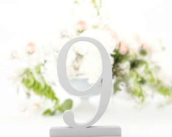 Light Gray Wedding Table Numbers, Wooden Table Numbers, Grey Wedding Table Numbers