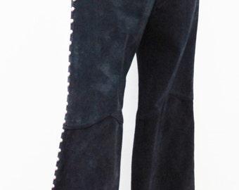 1970s Suede Studded Glam Rock Heavy Metal Pants Junkshop Glam