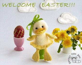 Сheerful duck for keeping warm breakfast eggs  - pdf crochet pattern. Easter pattern. Cozy Home. Egg cozy.