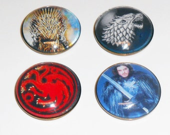 Game of Thrones Glass Magnets, Fridge Magnets, Office Glass Magnets, Home Office Magnets, Large Glass Magnets, Magnets