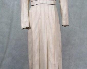 1900s Vintage Dress Suffragette Edwardin Titantic Dress  32 inch Waist