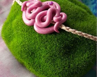 Pink tentacle wrap bracelet