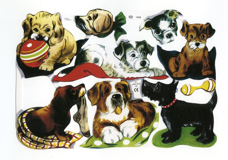 Scrapbook paper dogs -  1 10