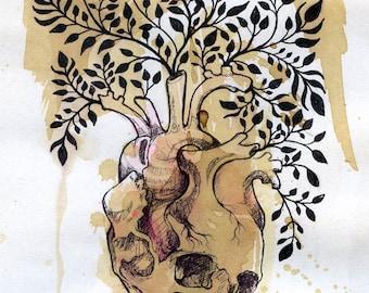 Coronary Inflorescence - Mini Giclee Fine Art Print