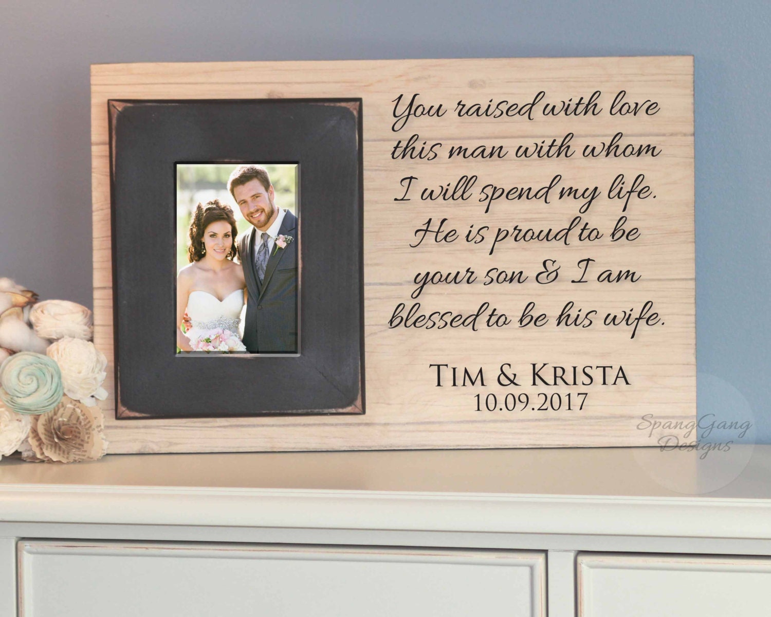 Wedding Gifts For Parents Of The Groom : Wedding gift for parents of the Groom gift by SpangGangDesigns