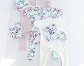 Baby Harem Romper, Baby girl outfit, infant harem, toddler girl--woodbean