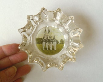 West Point Ashtray - Chunky Clear Glass Ash Tray