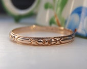 RESERVED DEPOSIT Vintage Solid 10K Slim Rose Gold Wedding Band.