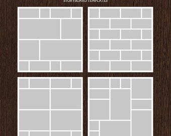 20x20 Photo Storyboard Templates - Photo Collage Template - PSD Template - Resize to 10x10 - For Photographers - Instant Download - S224