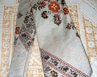 1970s Gino Pompeii Men's Tie - 100% Terytal - Handmade in Italy