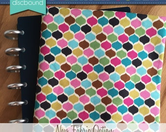 Discbound Planner Cover (Multi Color Honeycomb Print)