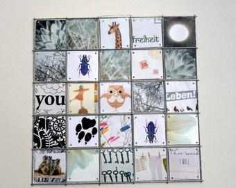 Child Deco, Black&White, Animals, mosaik, photocollage, love poem