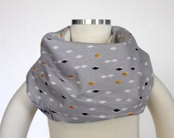 100% Organic Cotton (Gray Gold Glint) SCABIB scarf/bib for children