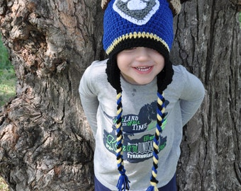 Baby, toddler or kids crochet paw patrol inspired Chase dog hat