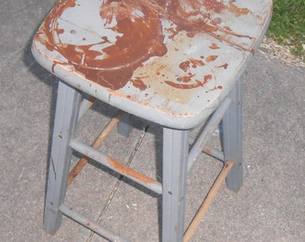 Vintage Bench Stool With New Patchwork Top By Kissmyattvintage