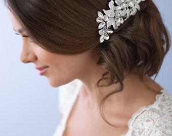 Wedding Hair Clip, Rhinestone Hair Clip, Crystal Clip, Bridal Hair Clip, Wedding Hair Clip, Vintage Hair Clip, Wedding Accessory  ~TC-2246