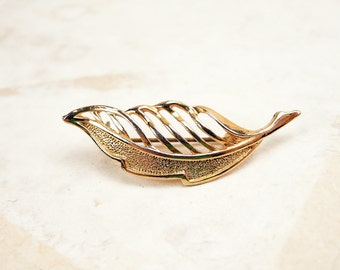 Small Gold Brooch - leaf