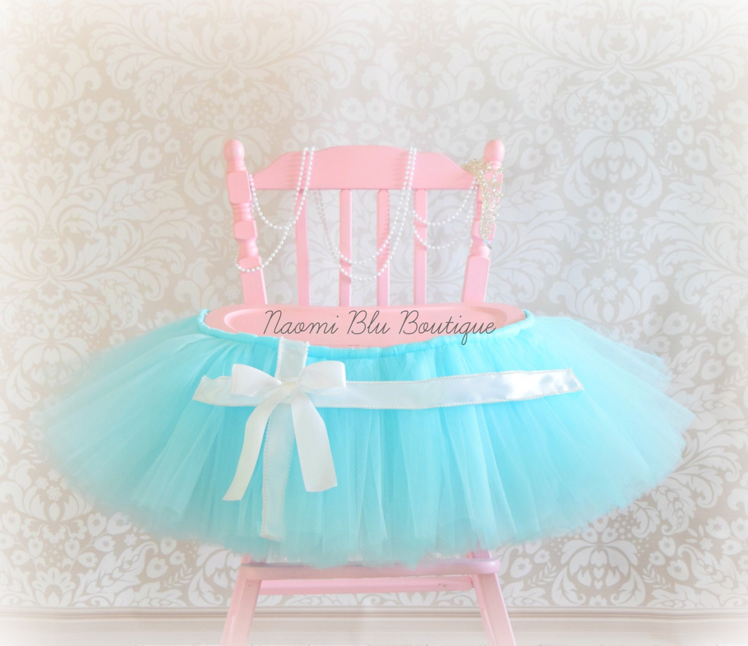 High Chair Tutu Inspired by Breakfast at Tiffany s