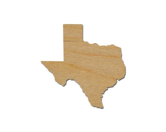 Texas State Shape Variety of Sizes Unfinished Wood Craft Cut Outs  Artistic Craft Supply