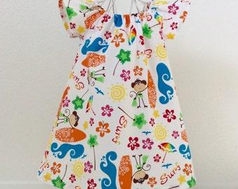 Toddler Girls Dress Summer dress beach dress Little Girls Dress with Flutter Sleeves Beach Dress Summer Dress