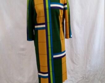 Chic Justin McCarty Custom Tailored Geometric Dress