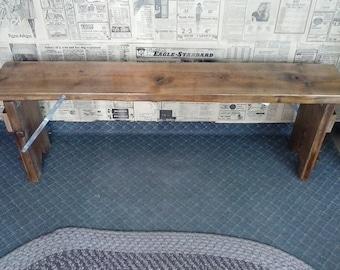 FREE Shipping!! Deck Decor. Folding Wooden Park, Garden, Mud Room Bench. Indoor Outdoor Varnished Plank