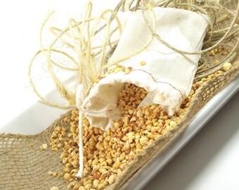 Bombshell scented Sachets, Natural Potpourri Sachet, Linen Sachet Bags, Room Fragrance, Drawer Sachets, Gifts for Her - 3x5 Muslin Bag