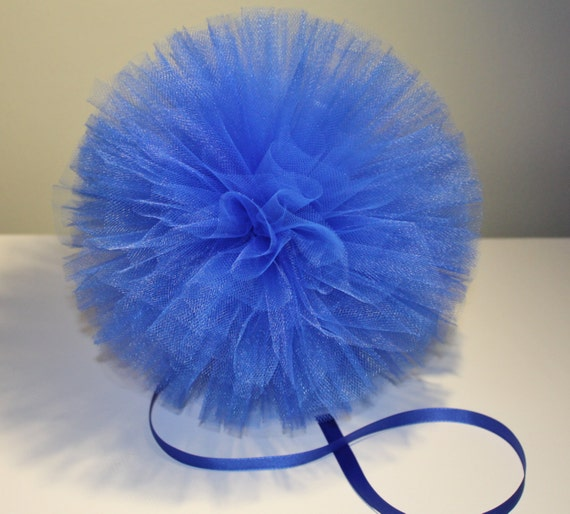 10 Inch Tulle Pom, Hand Sewn and Woven, Nursery Decorations, Party Decorations, Wedding Decorations