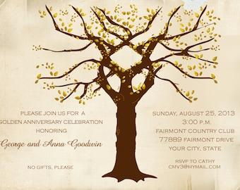 Golden Anniversary Tree Invitation