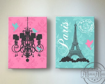 Eiffel Tower Art Paris Bedroom Decor,Chandelier Girls Room Decor, Teen Or  Girl Nursery