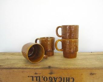 Amber Stacking Mugs