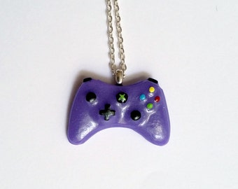 Purple Xbox Controller Necklace - Gamer Girl Nerdy Jewelry Geeky Jewelry Geeky Necklace Gamer Necklace Gamer Jewelry Nerdy