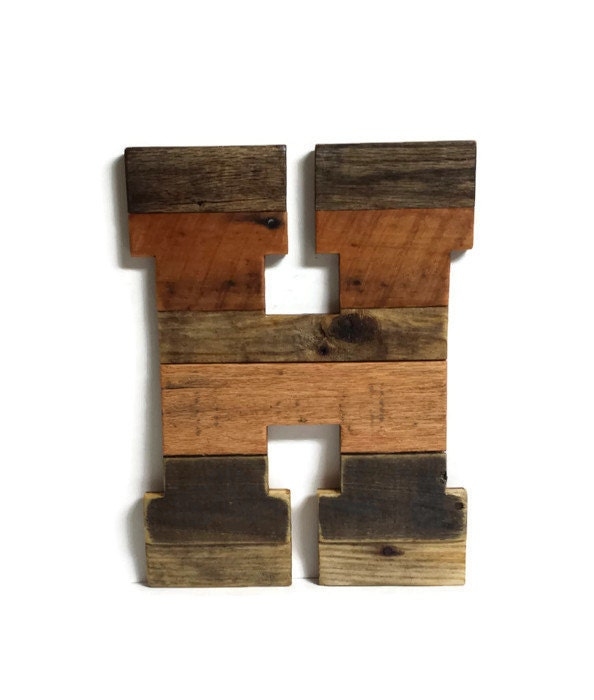 16 wood letters reclaimed pallet wood rustic wedding for 16 wooden letters