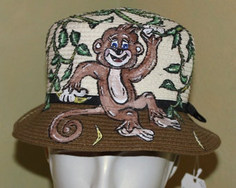 Ladies Monkey Jungle Hat