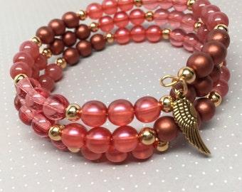 """Rosey """"Winged"""" Wrap Bracelet"""
