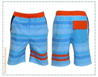 Shorts Pattern, Boys Shorts Pattern, Swim Shorts Pattern, pdf Sewing Pattern, Boys Sewing Pattern pdf, Pants Pattern, STRIPE SHORTS